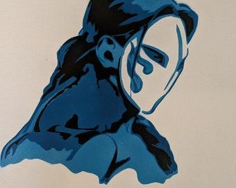 Vega Street Fighter Spraypaint Stencil by Doudkine