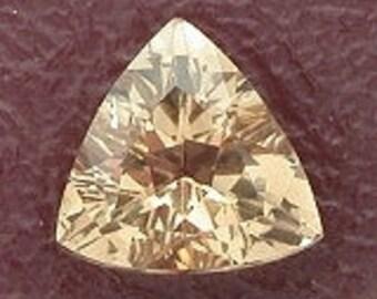 6mm triangle trilliant champagne topaz gem gemstone