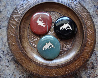 SHARK Gemstone Animal Spirit Totem for Spiritual Jewelry or Crafts