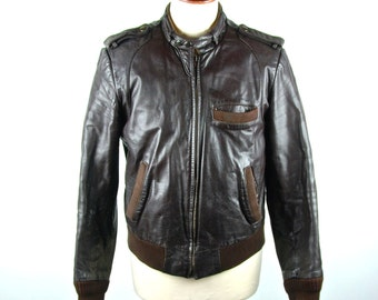 Leather Hill & Archer size 44 jacket 80's Michael Jackson style VtTFS