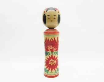 Vintage Kokeshi Doll.Naruko Traditional.by Matsuko Takahashi.Japanese FolkArt.241mm.#dk334