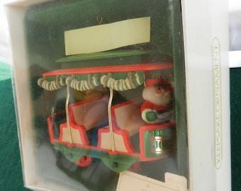 Hallmark 1982 Jolly Trolley Ornament