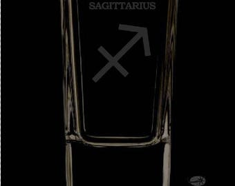 2.5 Ounce Sagittarius Personalized Shot Glass