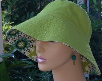 Womens Chemo Hat Beach Hat Floppy Hat Made in the USA Sun Hat Alopecia Hat  Medium Large