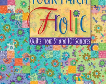 """On Sale 30 Percent Off  Quilting Sewing Book Four-Patch Frolic: Quilts from 5"""" and 10"""" Squares Quilting Sewing Quilt Book"""