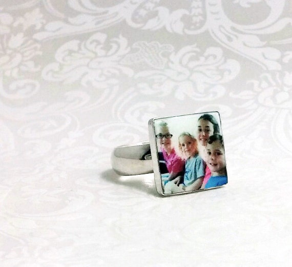OOAK Custom Photo Tile Ring