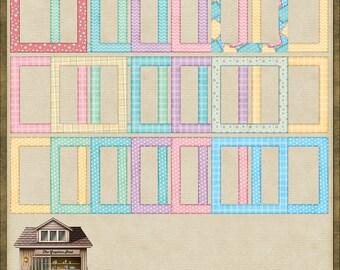22 Super Cute Baby Quilt Square Frames Instant Digital Downloads