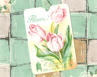 Tags, Flower Gift Tags, Tulips, Spring Tulip Tags, Party Favors