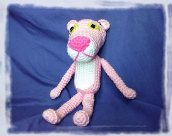 Instant download - PDF - The Pink Panther - 11.5 inches - amigurumi doll crochet pattern