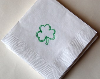 Shamrock Beverage Napkins / Set of 50 / St. Patrick's Day Party Favors