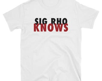 """We Know"""" Tee - Black and Red"""