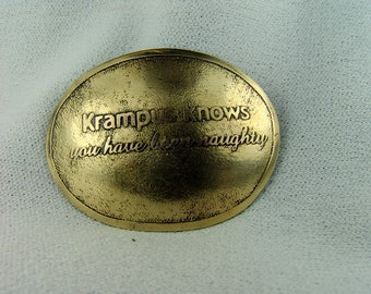 Barrette 2.5 inches across...Krampus Knows...You have been Naughty