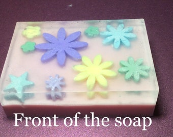 summer is coming, floral design handmade soap,