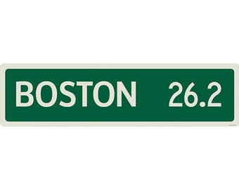 Boston Marathon 26.2 Road Marker Wall Decal #44357
