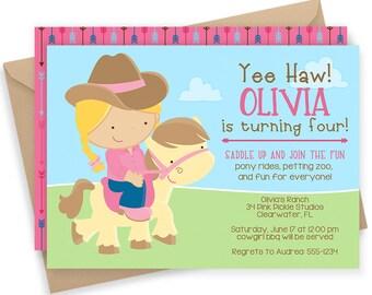 Pony Birthday Invitation | Pony Invitation | Pony Invite | Pony Party | Pony Birthday | Pony Birthday Party | Pony Ride Invitation | 34