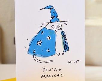 You're Magical - Mini Cat Card - Love You Card