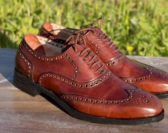 Full brogues man, bespoke shoes, leather Shoes man, Custom tailoring  leather oxford shoes