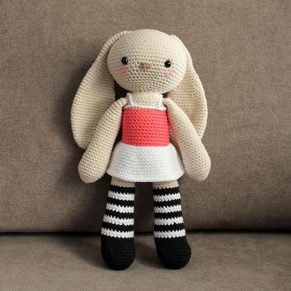 Big Bunny - Crochet Doll, Rabbit Toy, Amigurumi Toy, Rainbow Doll, Made to Order, Cute Children Gift, Nursery Doll, DIY, Art Crafts