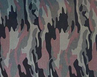 Camouflage Khaki Cotton Jersey