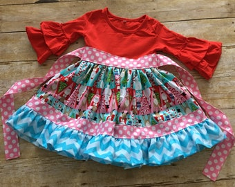 Baby Girl Christmas Dress 12-18 Months - Ready to Ship