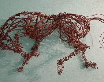 Wire Horse Sculpture-Collected Trot