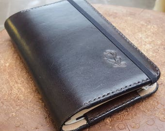 Leather Moleskine Cover for Classic Pocket Size Moleskine Notebook