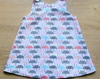 """Umbrellas"" pinafore dress"
