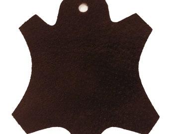 Premium Garment Grade Pig Suede Leather Hide 0.5mm Avg 7-9 sqft - Medium Brown