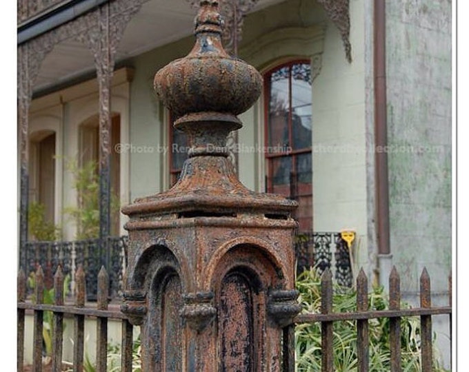 Ironwork Fence Post Photograph