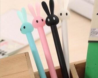 Bunny Ears Gel Pen Kawaii Rabbit Stationery Back to School