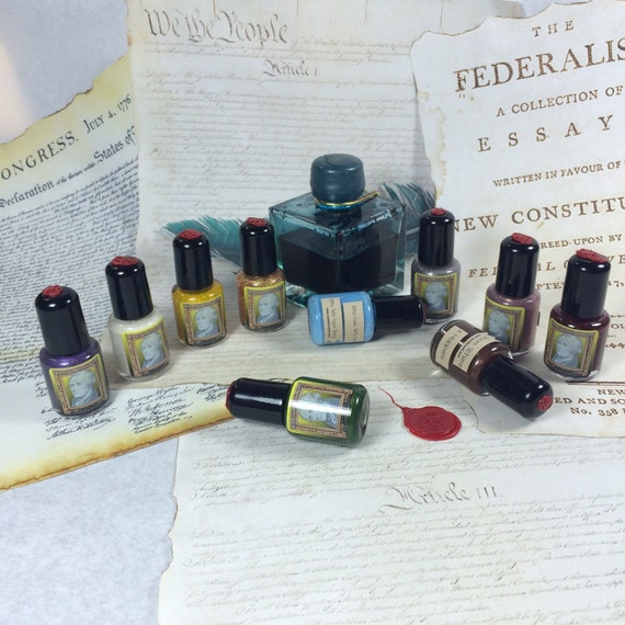 The Ten Duel Commandments(mini): Entire Tell Your Story nail polish Collection for serious hardcore Hamilton Musical Fans Master Lis