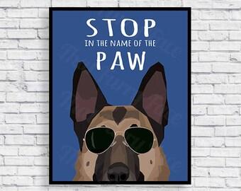 GERMAN SHEPHERD POSTER | Gift | Print it yourself | K-9 Unit |  Dog Love