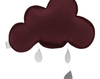 Small Cloud mobile Dark red