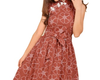 """READY TO SHIP """"The Wanderer"""" updated 50s style party dress with cheongsam collar"""