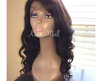 Lace front wig 100% brazilian virgin hair wig, human hair wig, lace front wig, lace  wig, bodywave wig full lace wig,lace wig
