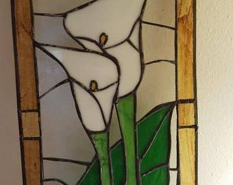 Beautiful Calla Lilies in Stained Glass
