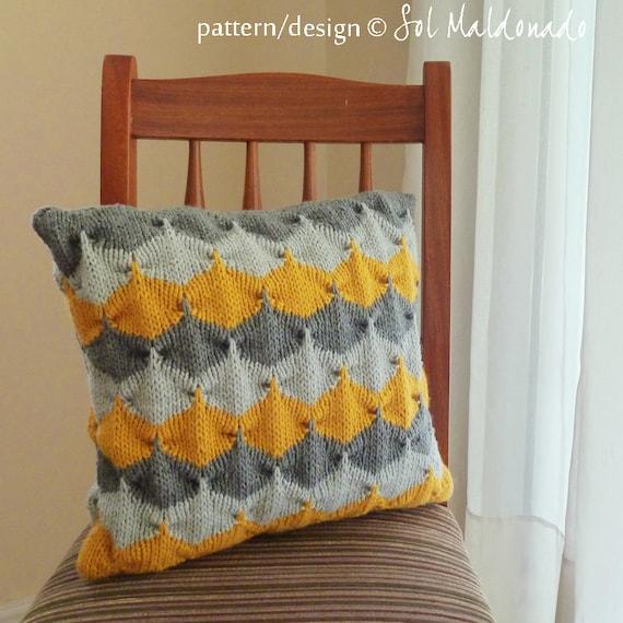 Items Similar To Pillow Knit Pattern Decorative Geometric