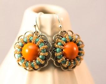 Colorful Sunburst Earrings