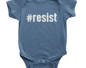 Resist Onesie | Organic Baby Clothes | Kids Anti Trump Shirt | Political Onesie | Kids Resist Shirt | Resistance Onesie | Kids Protest Shirt