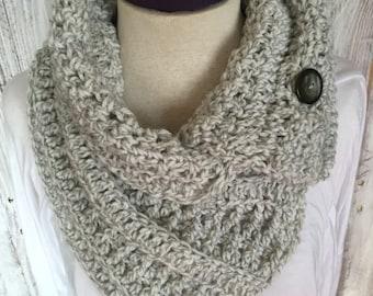 Handmade scarf, Crochet Button Scarf, women's scarf, crochet women's scarf, crochet scarf, scarf with buttons, textured crochet scarf