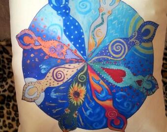 Goddess Wheel of the Year Cushion