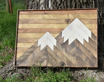 Wooden Mountain Wall Art