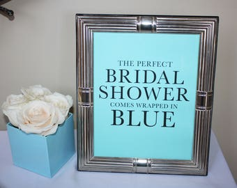 The perfect shower comes wrapped in blue