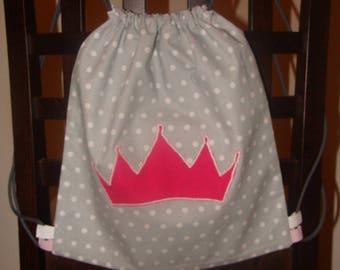 Princess rose grey backpack