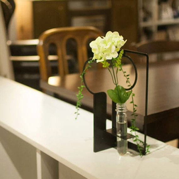 tai chi reagenzglas vase eisen dekoration blume gr n. Black Bedroom Furniture Sets. Home Design Ideas