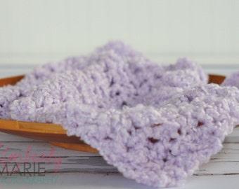 Lavender Cloud Newborn Baby Blanket Photo Prop