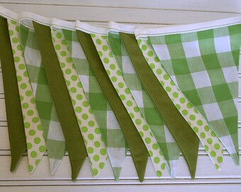 3m Greenery Double Sided Bunting