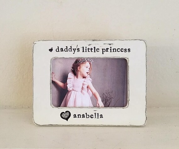 Dad picture frame daddys girl gift daddys little princess