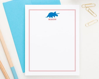 Personalized Stationery for boys // Thank you notes // Dinosaur Stationary // Choose your colors