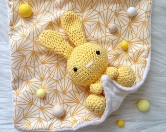 Crochet with fabric Bunny plush